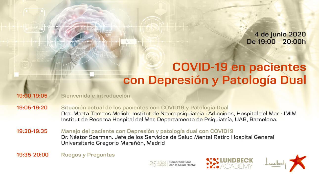 Covid-19 en pacientes con depresión y patología dual